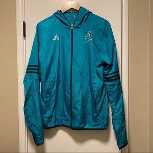 Boston Marathon Adidas Teal Zip-Up Jacket 2016